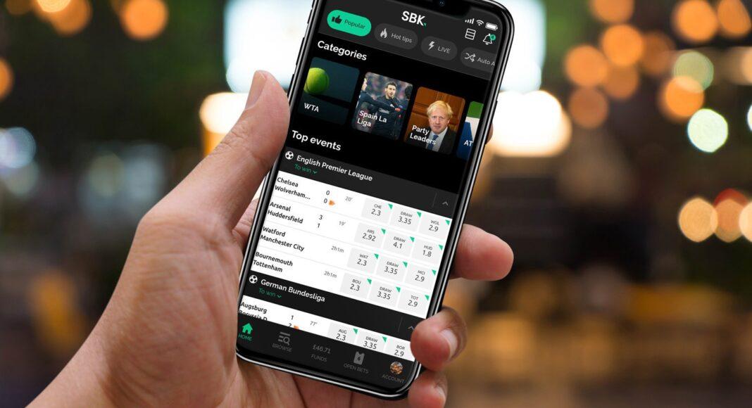 betting through a mobile app